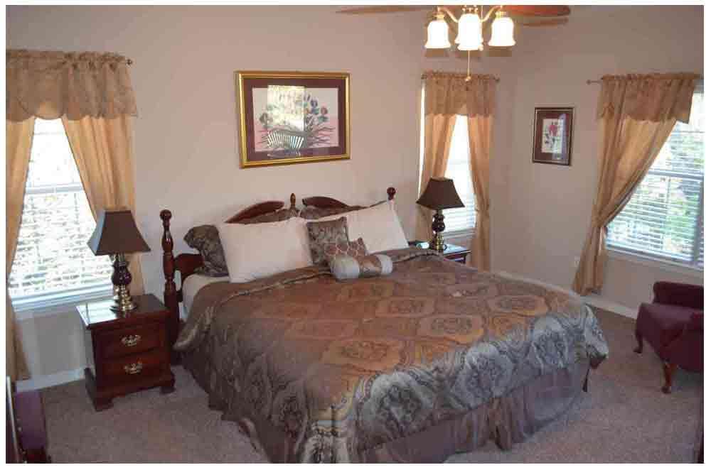 Master bedroom condo at Rockwood Resort condo 11