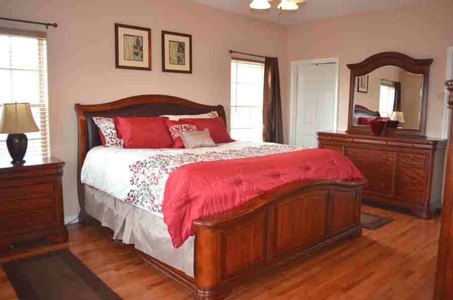 Master-Bedroom on hardwood flooring