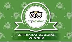 We have been awarded the tripadvisor certificate of excellence for the third year in a row.