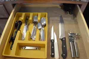 Photo of the silverware drawer