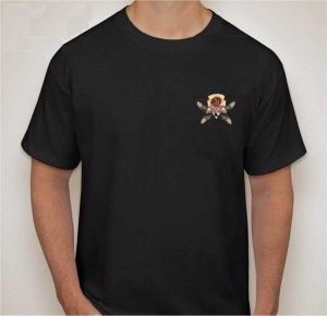The front of the men's t-shirt for the Indian Motorcycle Rally