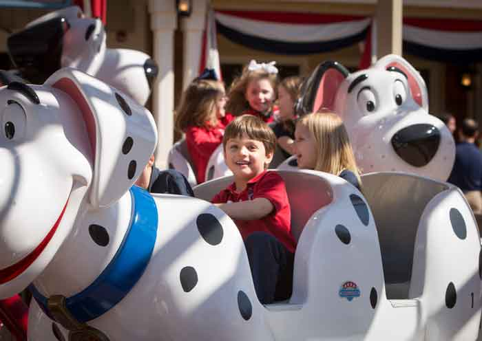All ages have some sort of a ride at Silver Dollar City. The dizzy dogs ride is both fun and adorable for the little ones.