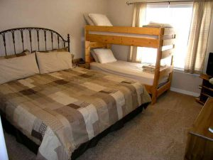 Bunk beds sofa beds king beds. There is space for everyone to sleep in this rental condo