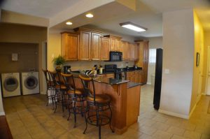 This is the huge kitchen available in every condo that we rent.