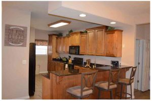 This huge kitchen comes complete with everything you need to prepare meals for your friends and family
