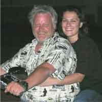 The 2 of us on our Indian Chief motorcycle