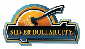 This is the logo for Silver Dollar City in Branson, MO. the premiere destination in all of southwest Missouri and rated one of the top 10 amusement parks in the United States