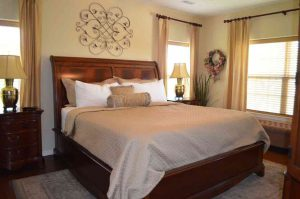 A king sized bed and tons of space in the master bedroom at this resort condo in Rockwood at Indian Point