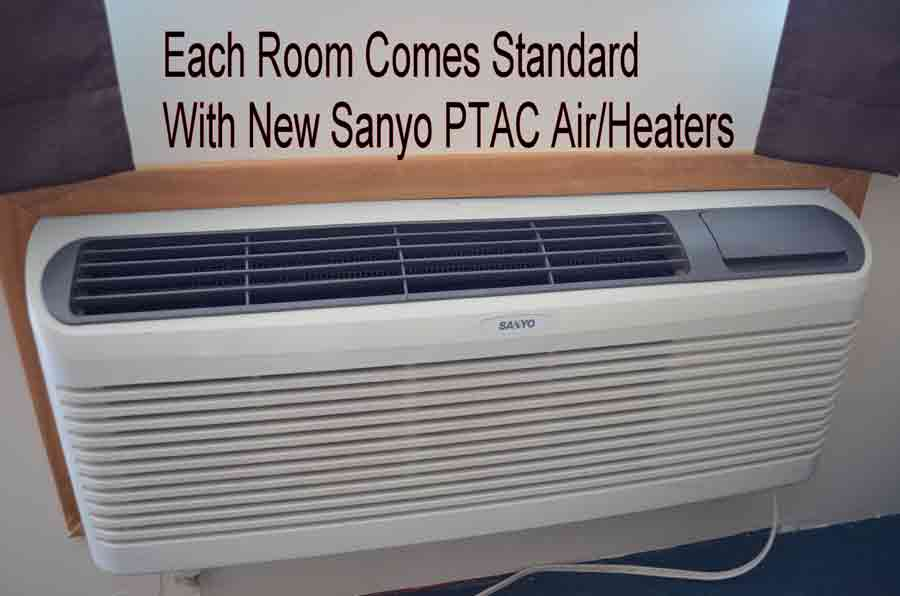 All-rooms-have-standard-PTAC-air-conditioners-mounted-through-the-wall