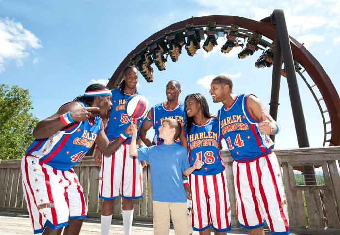 The Harlem Globetrotters have been coming to Silver Dollar City for several years and are always a big hit with the tourists.
