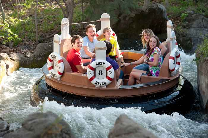 The lost river ride at Silver Dollar City is an adorable all ages fun ride.