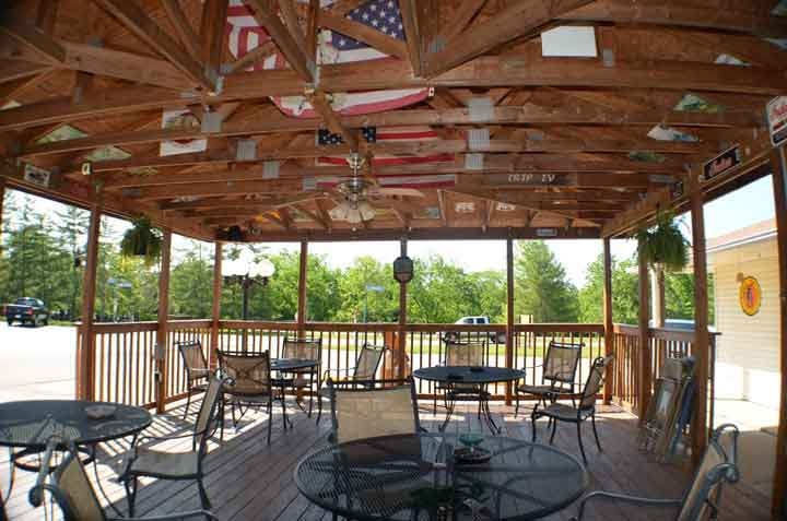 We have a great outside pavilion that is ideal for small gatherings.